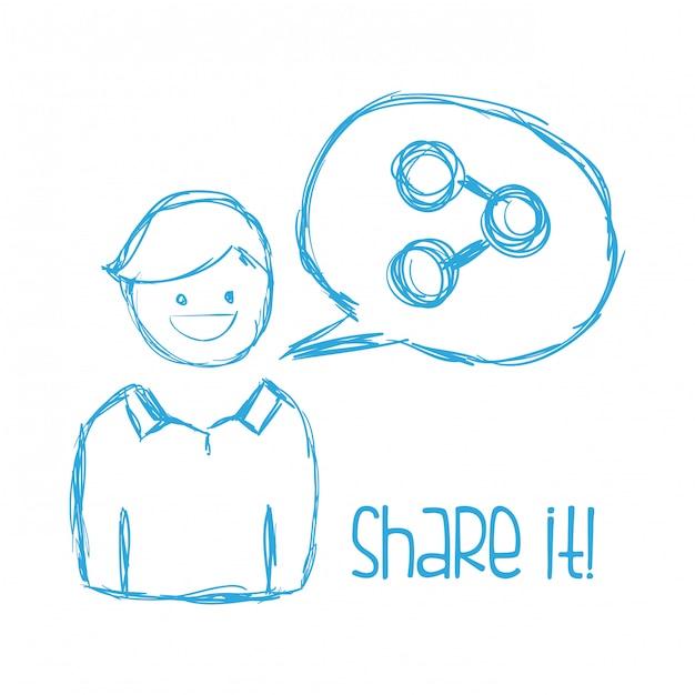 Share it design Premium Vector