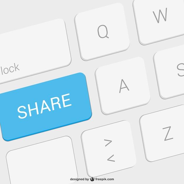 Share key Free Vector