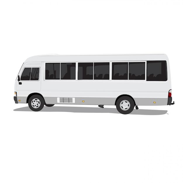 完全な編集可能なフォーマットの白い背景にsharedbusベクトル図 Premiumベクター