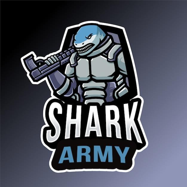 サメ軍のエンブレム Premiumベクター
