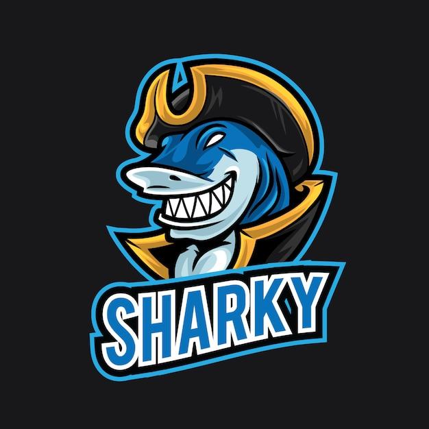 サメesportのロゴのテンプレート Premiumベクター