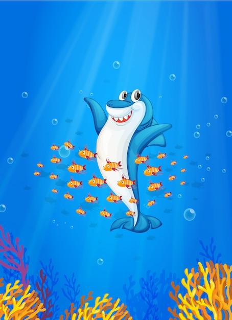 Shark fish Free Vector