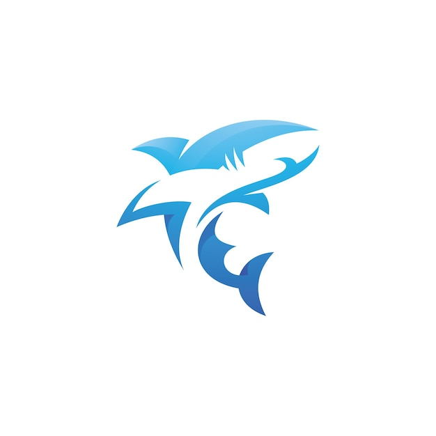 Shark logo illustration Premium Vector