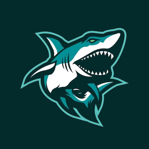 Sharks mascot logo design Premium Vector