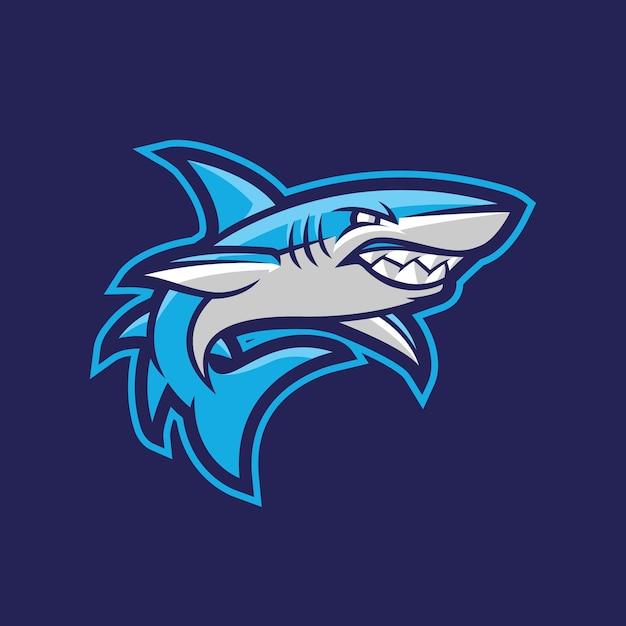 サメのマスコットのロゴデザイン Premiumベクター