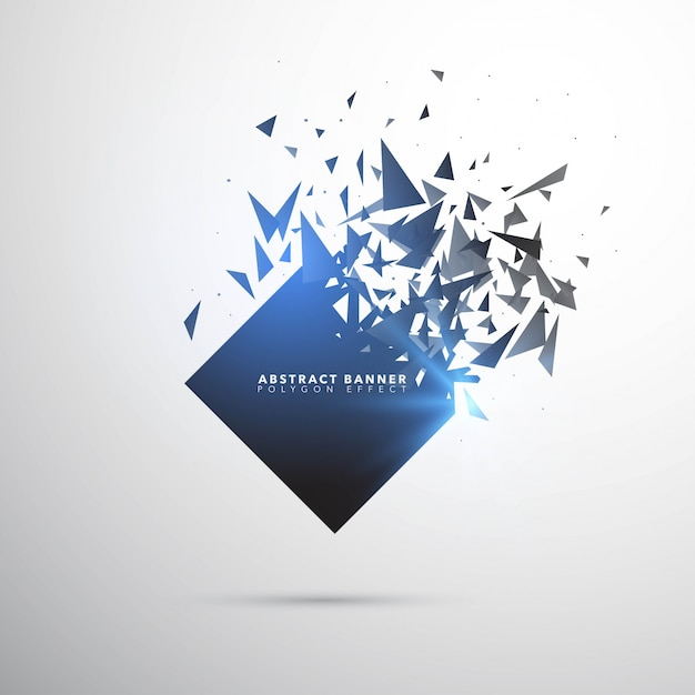 Shatter Explosion Banner Template Vector | Free Download