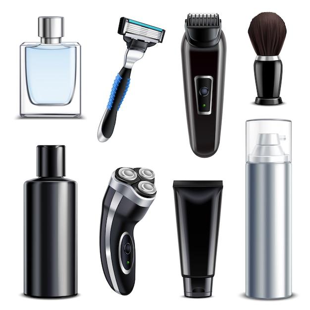 Shaving equipment realistic set Free Vector