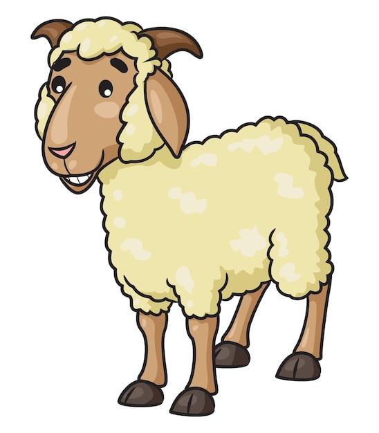 Овцы иллюстрации шаржа Premium векторы