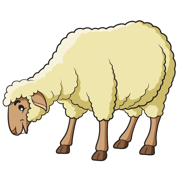 Sheep cartoon Premium Vector