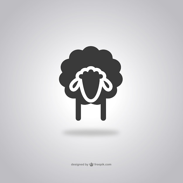 Sheep head icon Free Vector