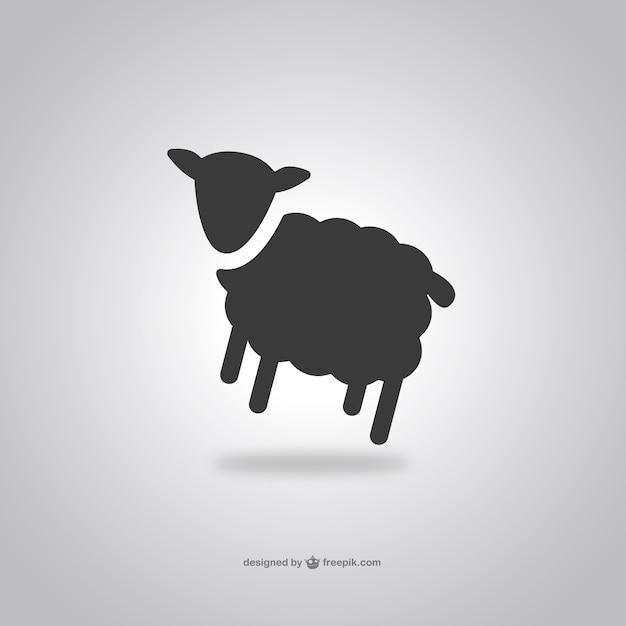 Овцы значок Бесплатные векторы
