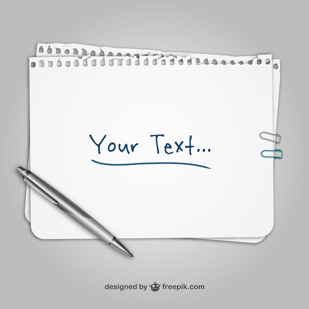 Sheet Of Paper Template Free Vector  Notepad Paper Template