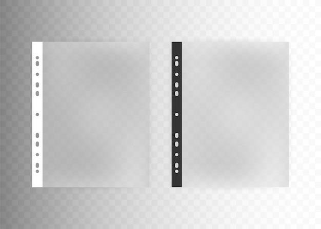 Sheet plastic protector, clear folder file. Premium Vector