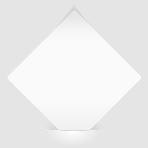 Sheet of white paper mounted in pocket Premium Vector