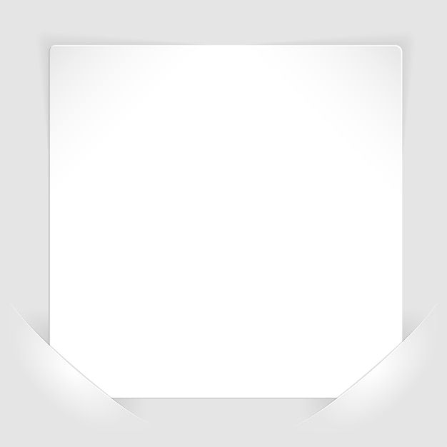 Sheet of white paper mounted in pockets Premium Vector