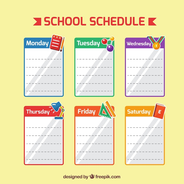 Sheets for school planner Vector | Free Download