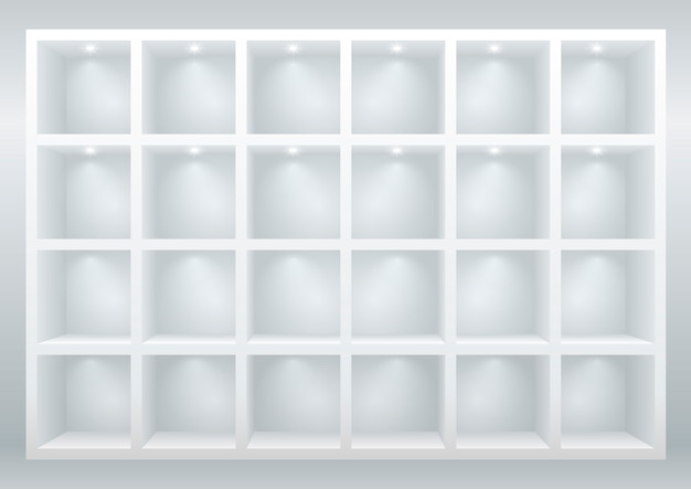 Shelves and drawers Premium Vector