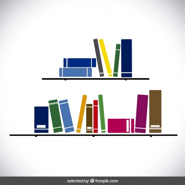 shelves with colorful books - Books About Colors