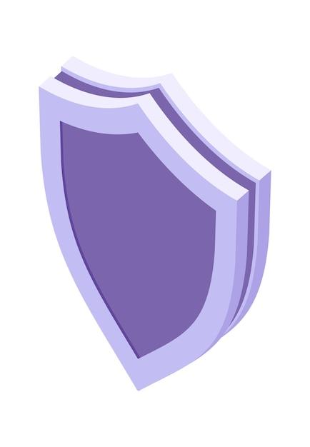 Щит изометрические значок изолированные векторные иллюстрации, символ защиты и безопасности Бесплатные векторы