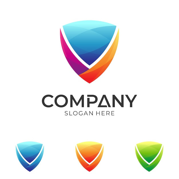 Shield logo template Premium Vector