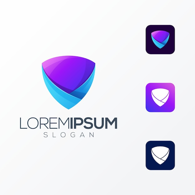 Shield premium logo icon illustration Premium Vector