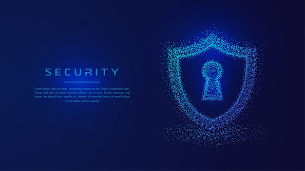 Shield protection, protected guard security concept. Premium Vector