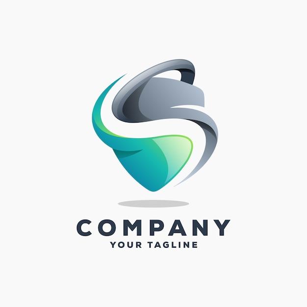 Shield s logo design vector Premium Vector
