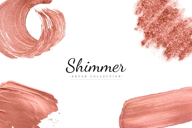 Shimmer brush set vector Free Vector