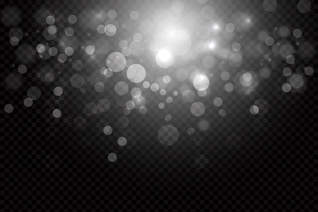 Shining bokeh overlay background Free Vector