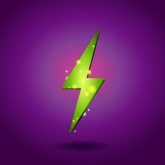 Shining electricity icon. Premium Vector