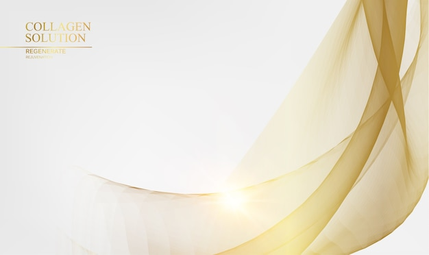 Shining golden lines over white background. Free Vector