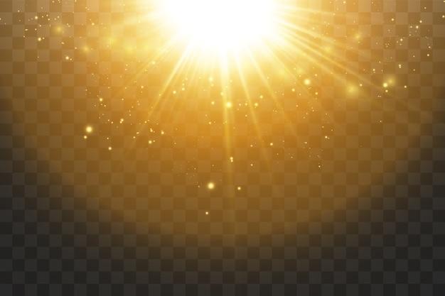 Сияющие золотые звезды, изолированные на черном фоне Premium векторы