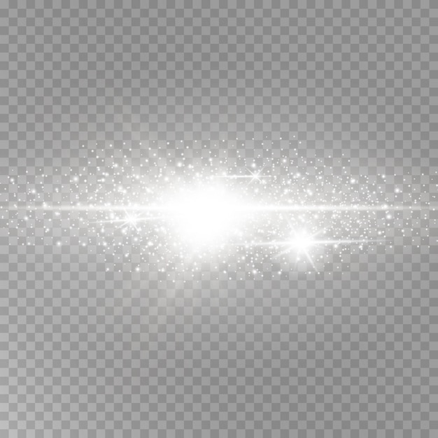 Shining luminous dust and glare. Premium Vector