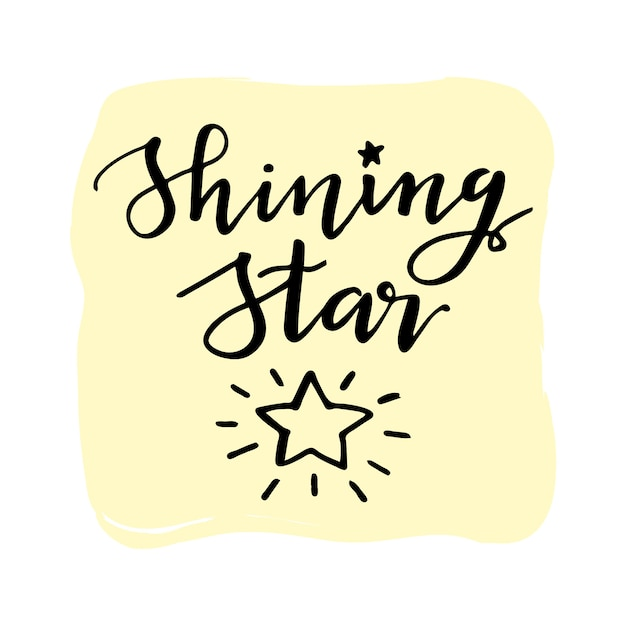 shining star quote vector free download