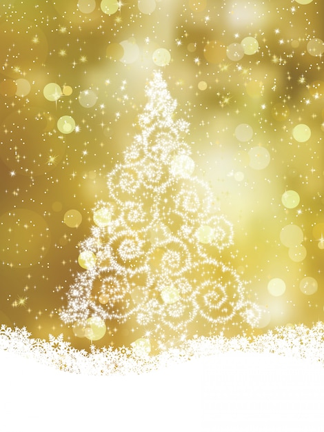 Shinny christmas tree.   file included Premium Vector