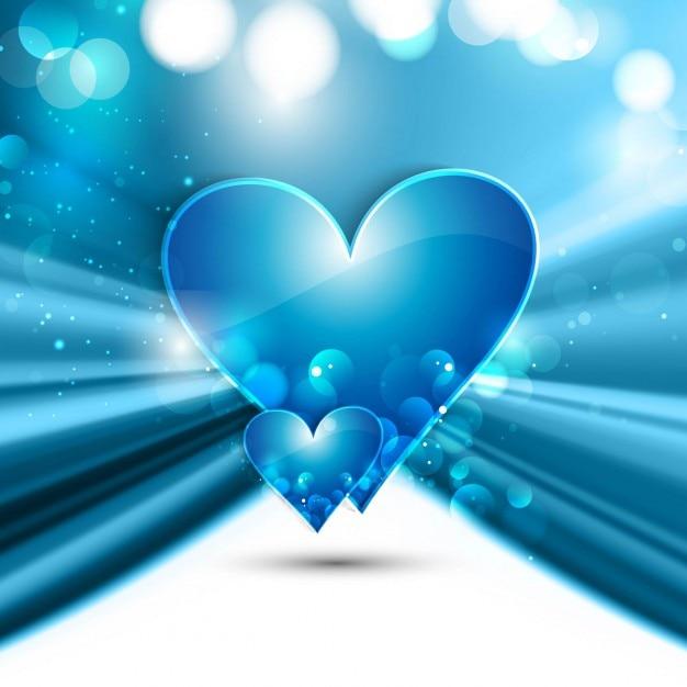 Shiny blue love background