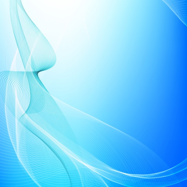 Shiny blue wavy background