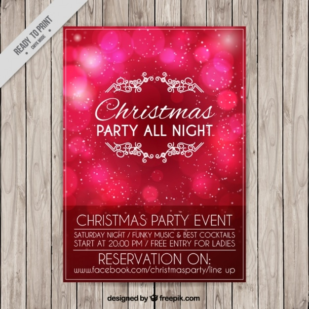 Shiny bokeh brochure for christmas party