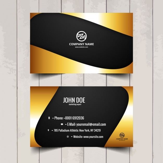Shiny business card Free Vector