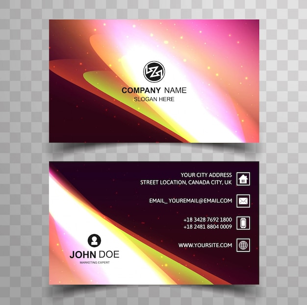 Download vector shiny business card design in green color shiny colorful business card colourmoves
