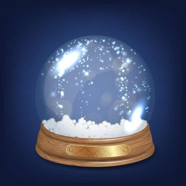 Shiny crystal snowball Free Vector