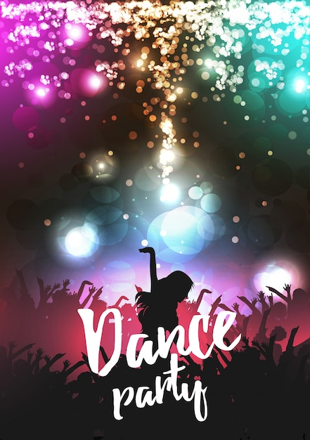Shiny dance party poster design Vector | Free Download