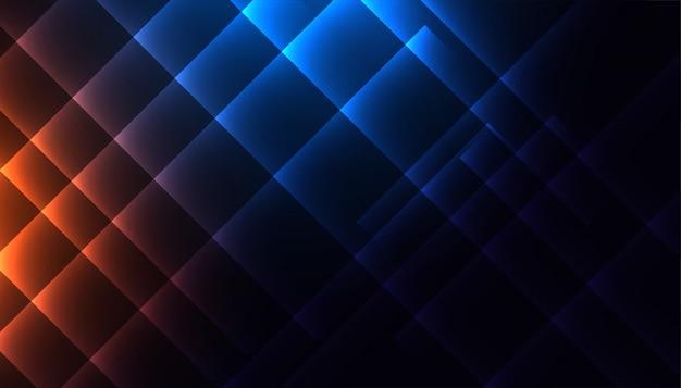 Linee diagonali lucide nei colori blu e arancioni Vettore gratuito