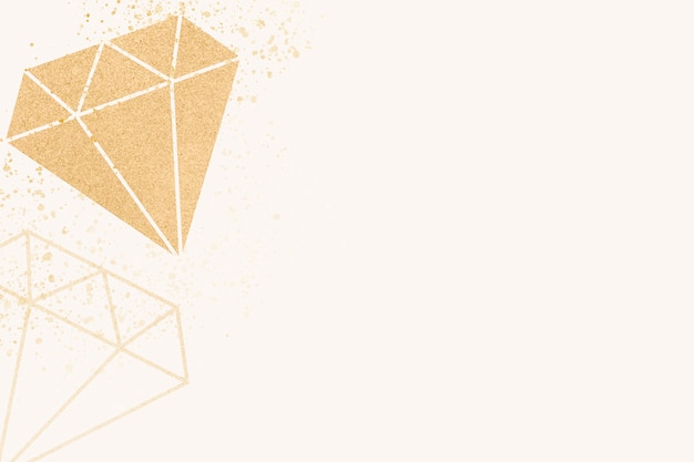 Shiny diamond banner Free Vector
