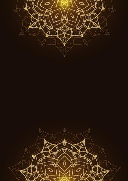 Блестящий цветочный фон мандалы с блеском Premium векторы