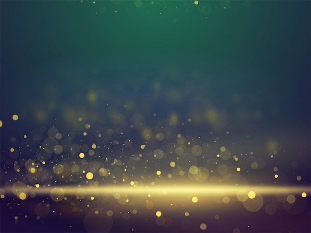 Shiny glittering bokeh abstract lighting blurred background. Premium Vector