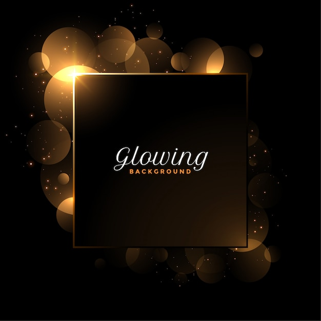 Shiny glowing luxury background with text space Free Vector
