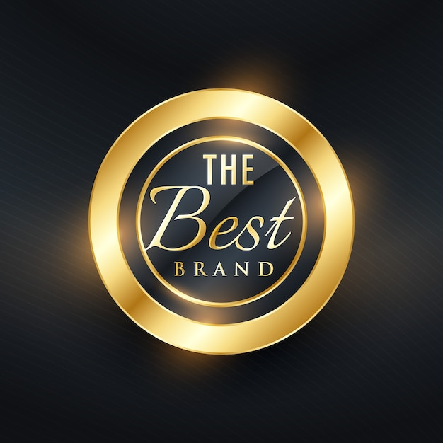 Shiny golden luxury label Free Vector