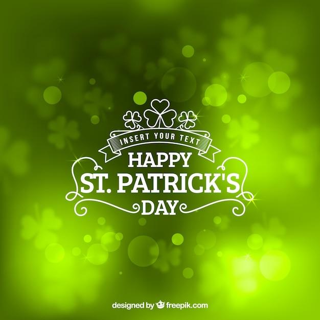Shiny green st patricks day background Free Vector