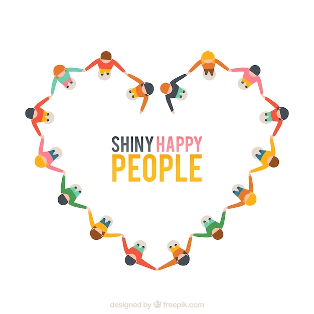 Shiny happy people Free Vector
